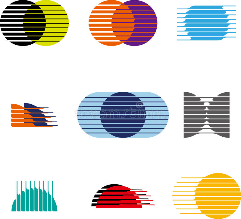 Collection of sphere vector logo set vector illustration