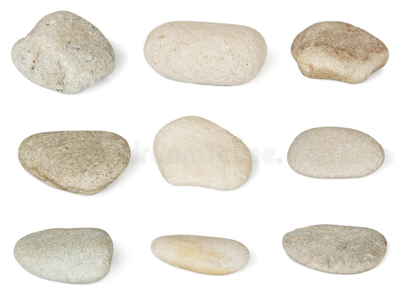 Collection of stones stock images