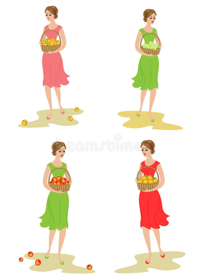 8dfe4b38f5f4 Apples Basket Stock Illustrations – 1,306 Apples Basket Stock ...