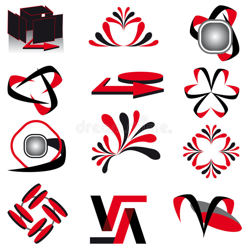 The collection of symbols royalty free stock photos