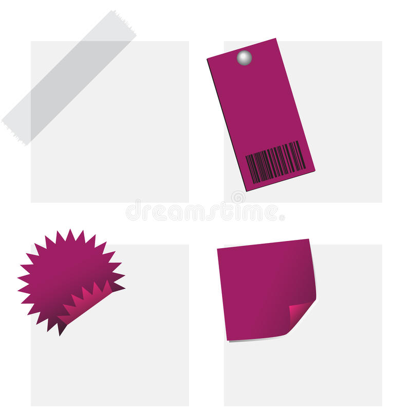Download Collection Of Tags And Notes Stock Illustration - Image: 15701755