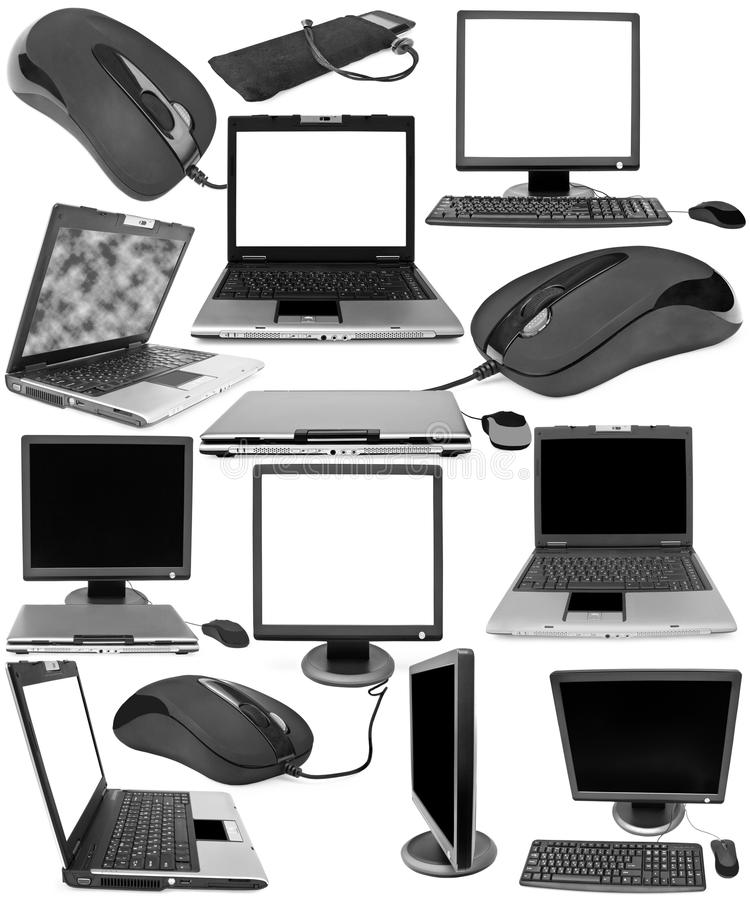 Collection of technical objects stock image