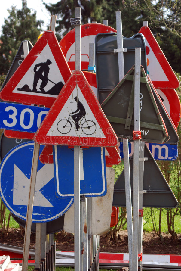 Collection of traffic signs royalty free stock photos