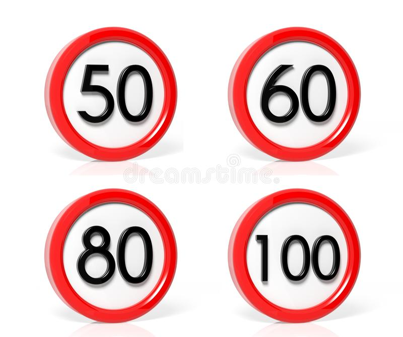 Download Collection Of Traffic Signs Stock Illustration - Image: 33572173