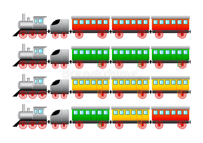 Download Collection of trains stock vector. Image of model, railroad - 20993308