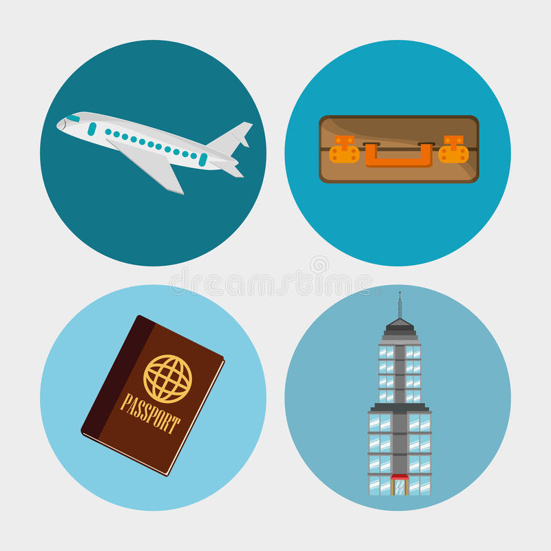Collection travel elements concept. Illustration eps 10 stock illustration