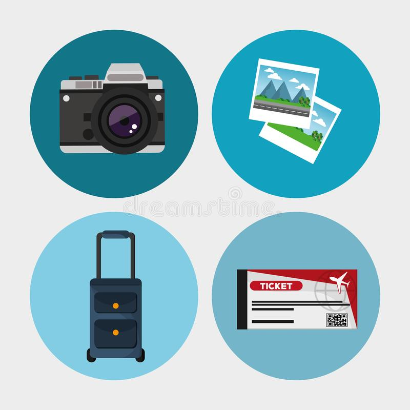 Collection travel equipment concept. Vector illustration eps 10 stock illustration