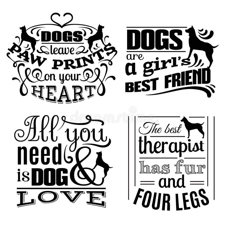 Collection of trendy quote typographical background royalty free illustration
