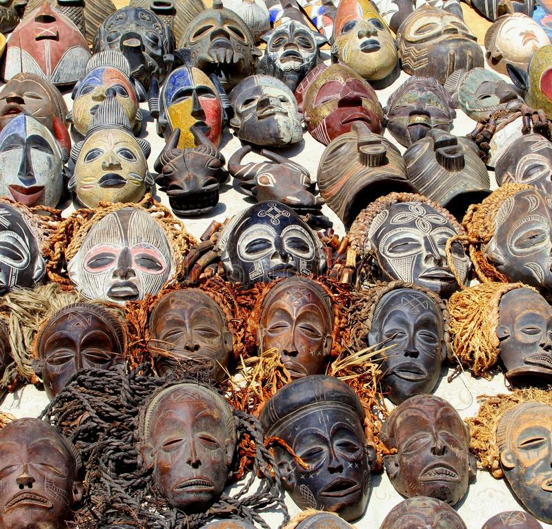 Free Collection Tribal Primitive African Masks, Namibia Royalty Free Stock Photos - 81687098