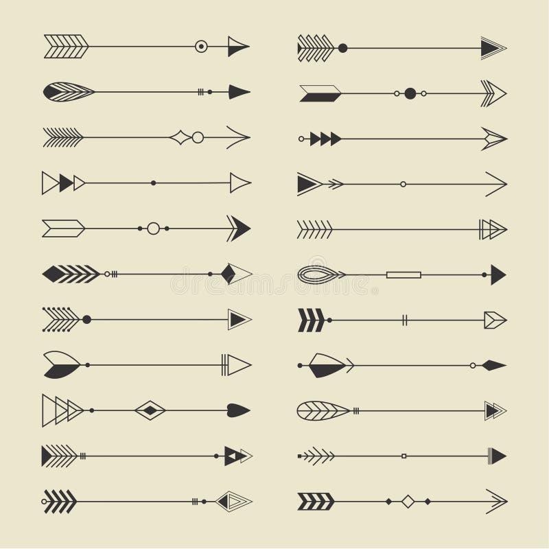 Collection tribale d'éléments illustration de vecteur