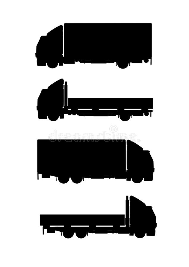 Download Collection Of Truck Silhouettes Stock Vector - Image: 14861550