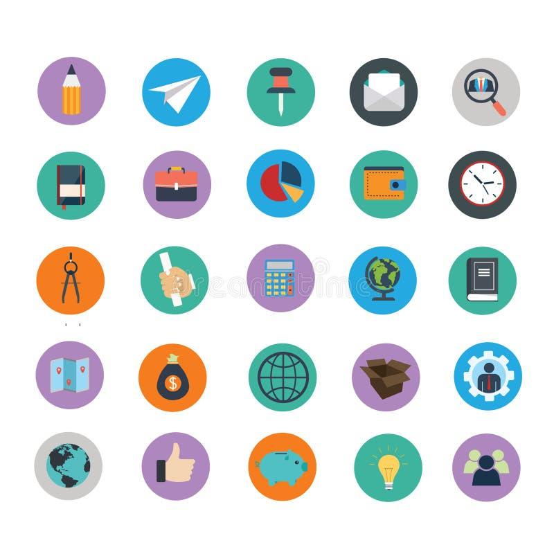 Collection universelle colorée d'icônes image libre de droits