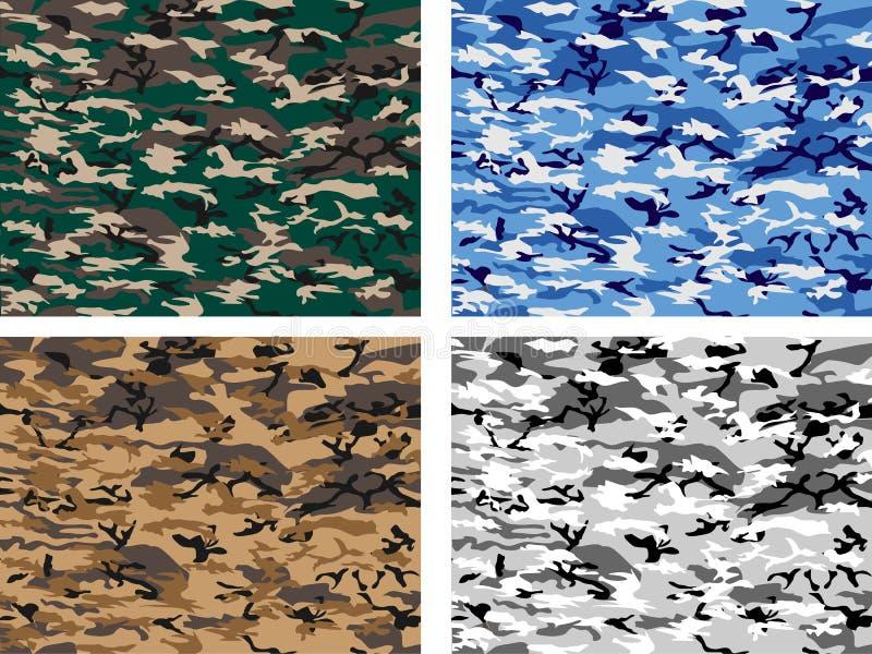 Collection urban camuflage royalty free illustration
