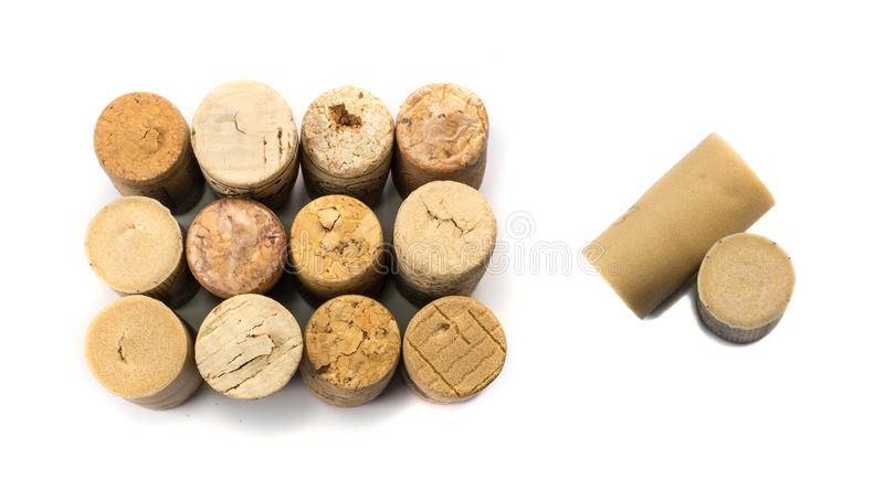Collection of Used Wine Corks stock photo