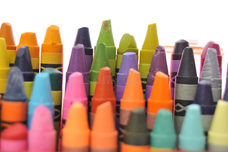 Collection utilisée de crayons photographie stock