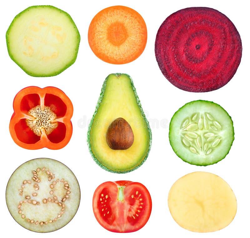 Collection végétale de tranches photo libre de droits