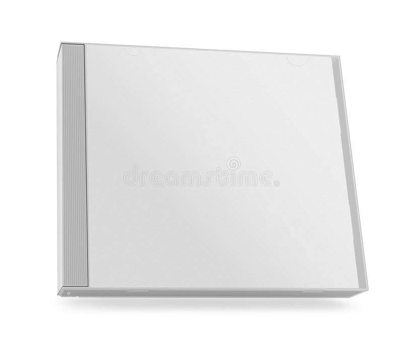 Collection of various blank white paper cd box stock images