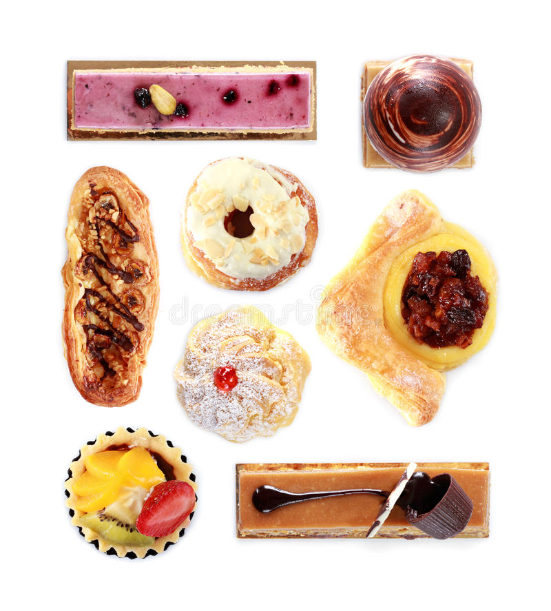 Collection of various cakes royalty free stock photo