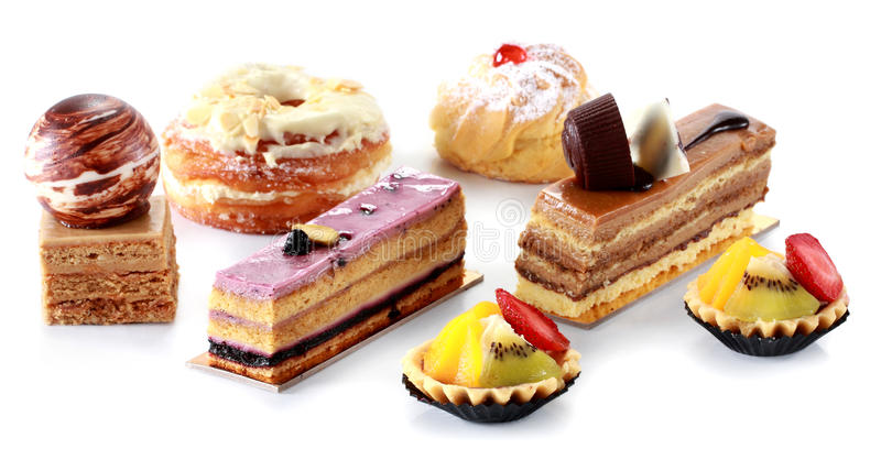 Collection of various cakes royalty free stock images