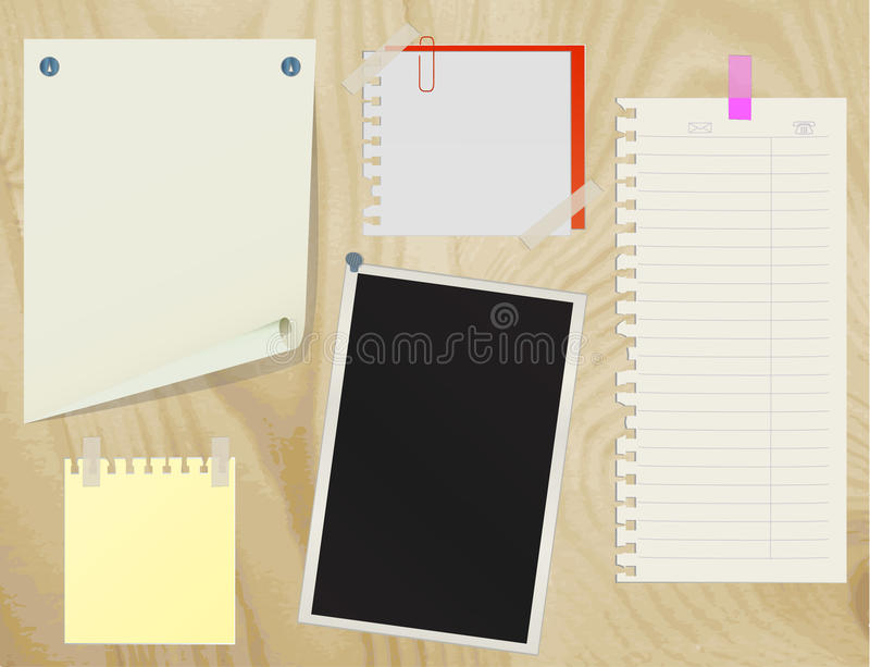 Collection of various note papers vector illustration