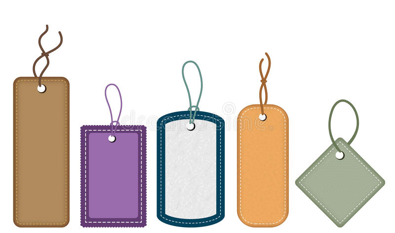 Collection of various tags vector illustration