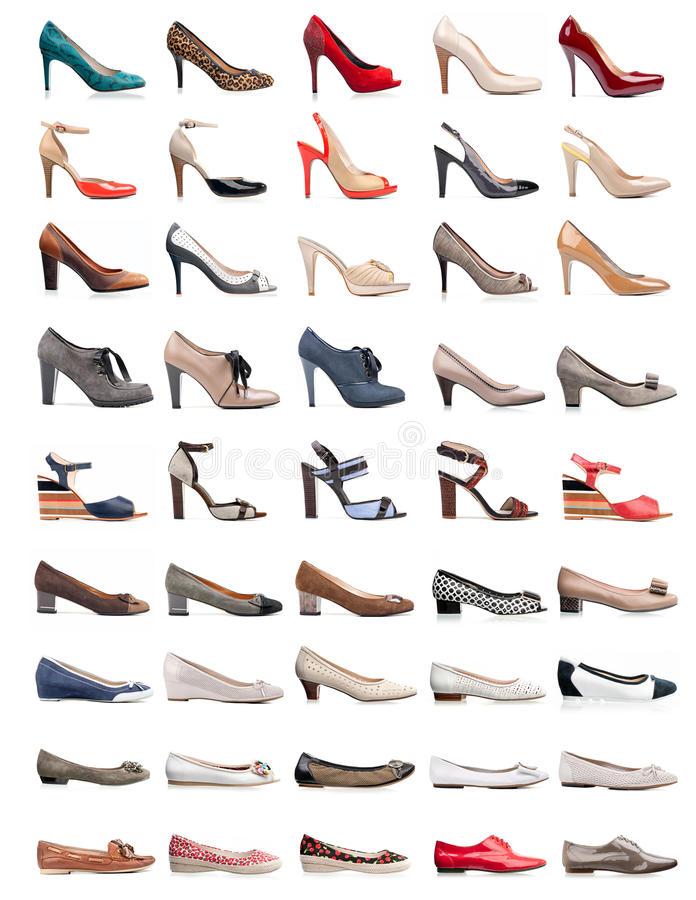 Download Collection Of Various Types Of Female Shoes Stock Image - Image: 24919695