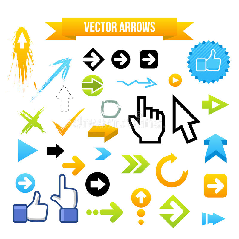 Download Collection Of Vector Arrows Stock Vector - Illustration: 28654879