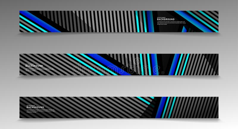 Collection vector banners. abstract striped background with white and blue colors. web design, presentation, advertising, etc vector illustration