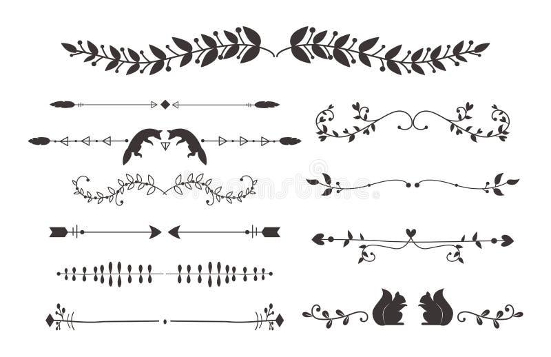 Download Collection Of Vector Dividers Calligraphic Style Vintage Border Frame Design Decorative Illustration Element Stock