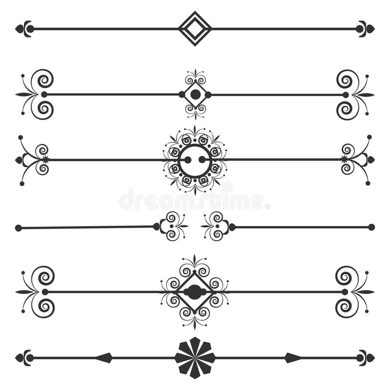 Collection of vector invitation page dividers stock vector download collection of vector invitation page dividers stock vector illustration of design greeting stopboris Images