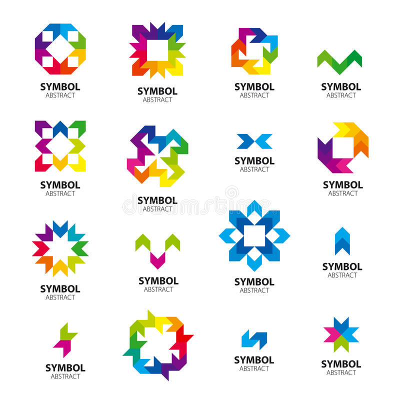 Collection of vector logos abstract modules vector illustration