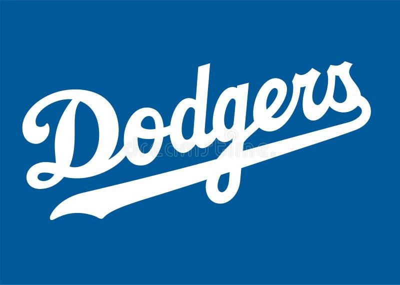 Los Angeles Dodgers Logo stock illustration
