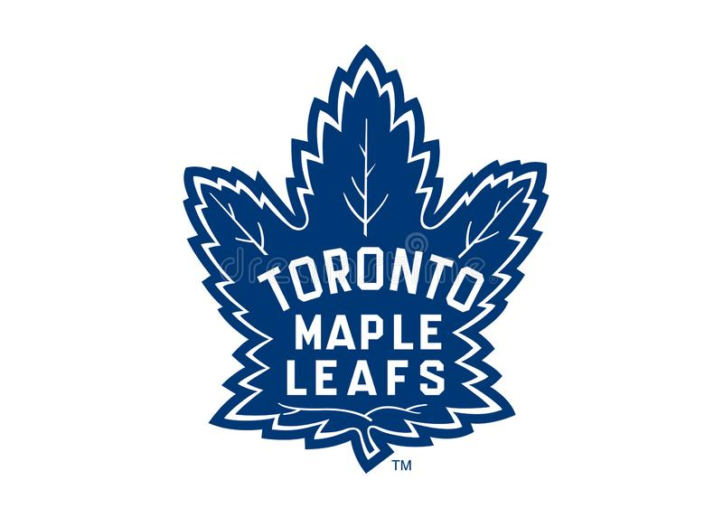 Toronto Maple Leaf Logo Old. Collection of vector logos of National Hockey League teams. vector format available AI illustrator royalty free illustration