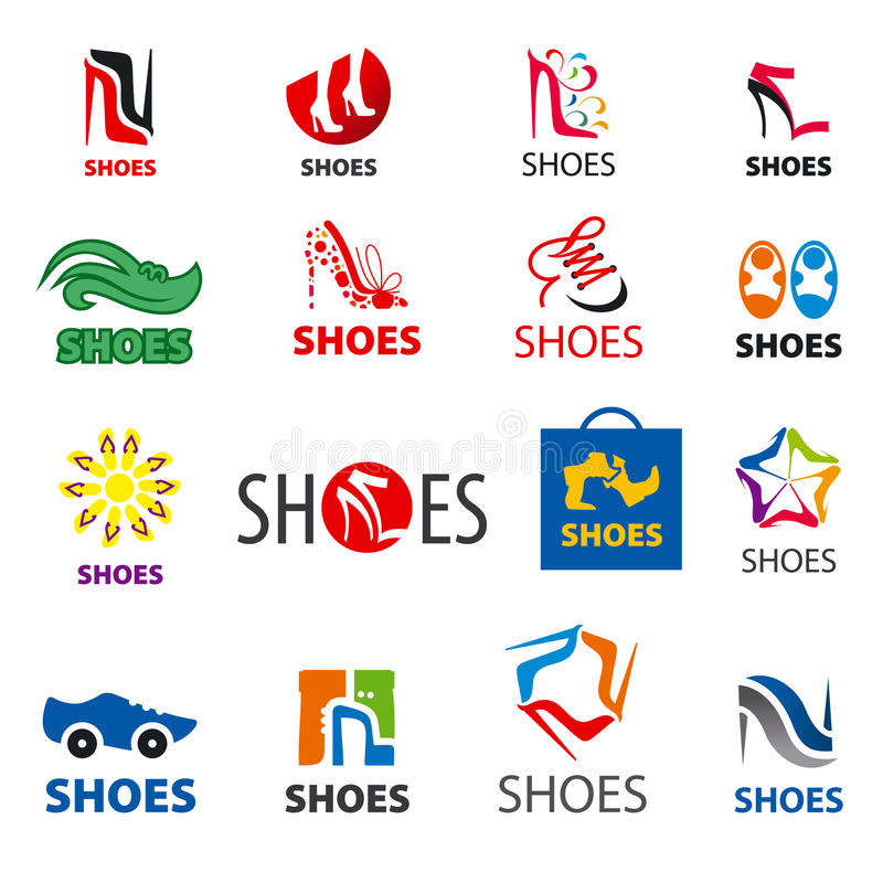 Collection of vector logos shoes vector illustration