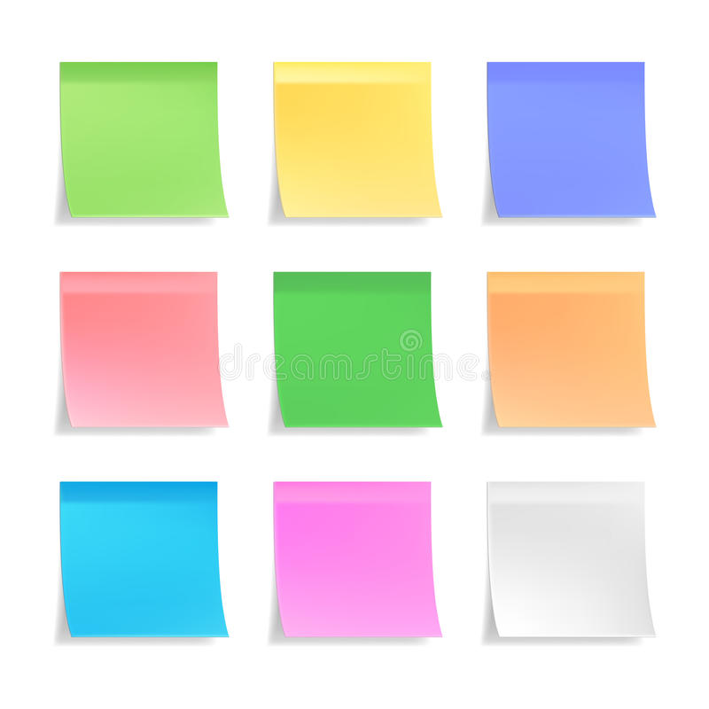 collection of vector sticky notes stock photo image of page nine rh dreamstime com post it note vector image post it note vector file
