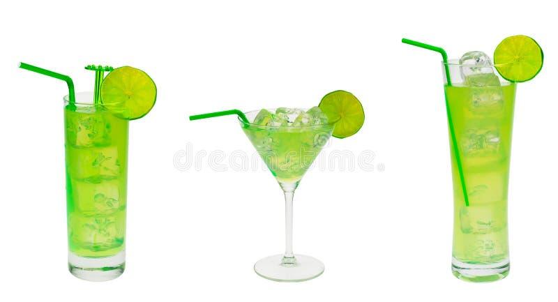 Collection verte de cocktail photos stock