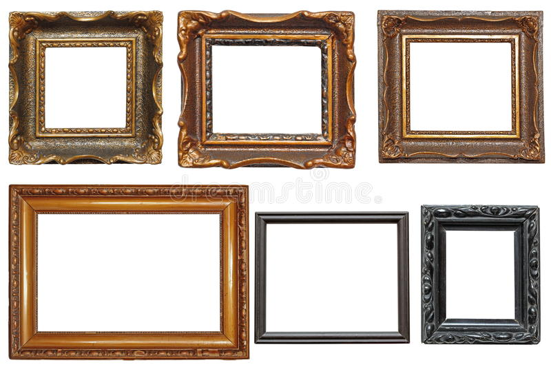 painting picture frames. Download Collection Of Very Old Painting Frames Stock Image  of decorate background