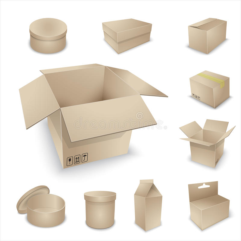 Collection vide d'emballage de vecteur. illustration libre de droits
