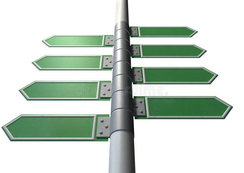 Collection vide de gauche à droite de signal de direction illustration libre de droits