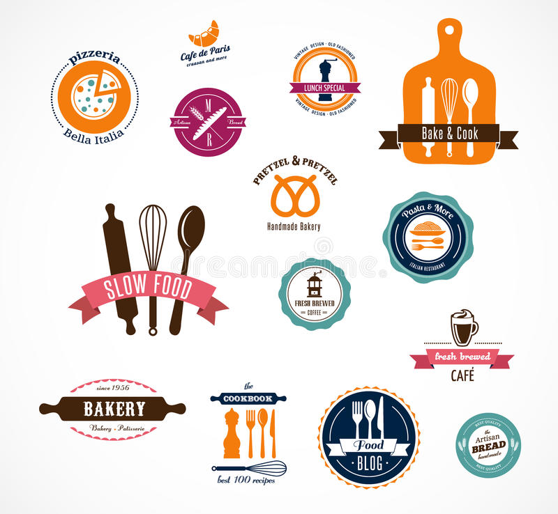 Download Collection Of Vintage Bakery And Cafe Labels Stock Vector - Image: 37162675