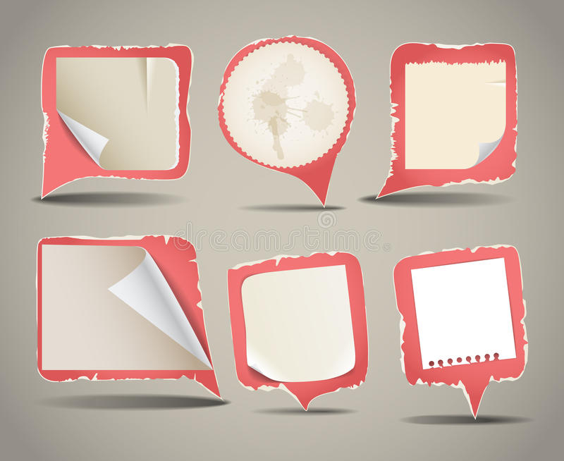 Download Collection Of Vintage Blank Papers Stock Vector - Image: 23437310
