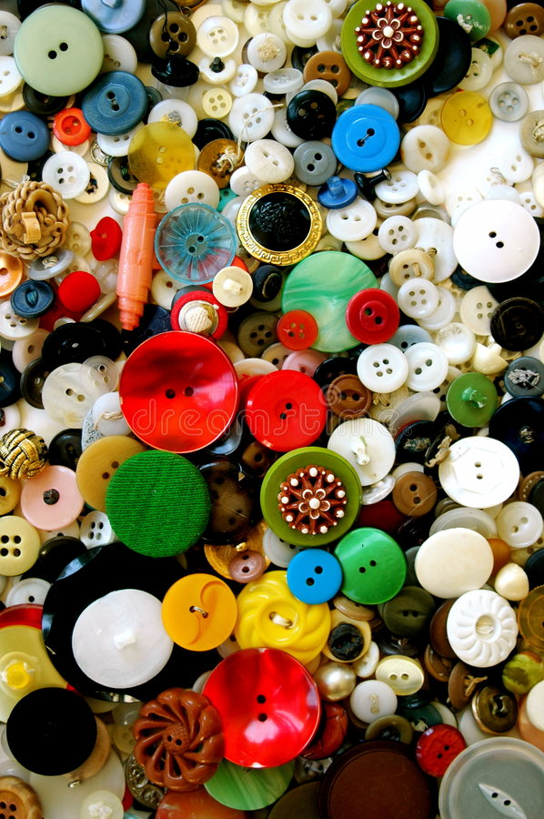 Collection of Vintage Buttons stock photos