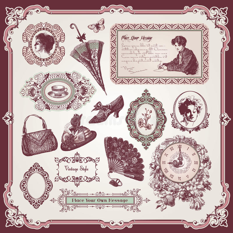 Download Collection Of Vintage Elements Stock Vector - Image: 21054873