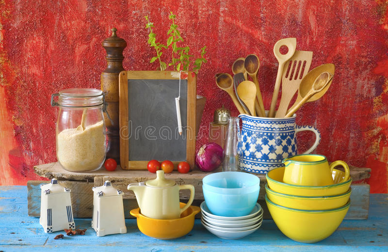Download Collection Of Vintage Kitchenware, Stock Image   Image Of Black,  Free: 57945529