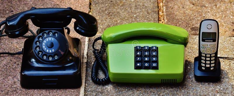 Collection Of Vintage Phones Free Public Domain Cc0 Image