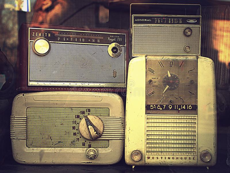 Radio Deluxe Radios royalty free stock photos