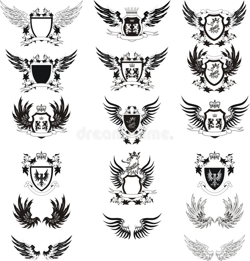collection of vintage vector coat of arms stock vector rh dreamstime com coat of arms vector free download coat of arms vector elements