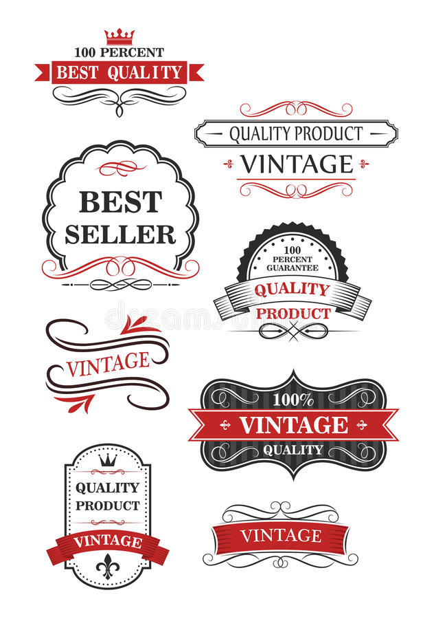 Download Collection Of Vintage Wine Labels Stock Vector - Image: 37142609