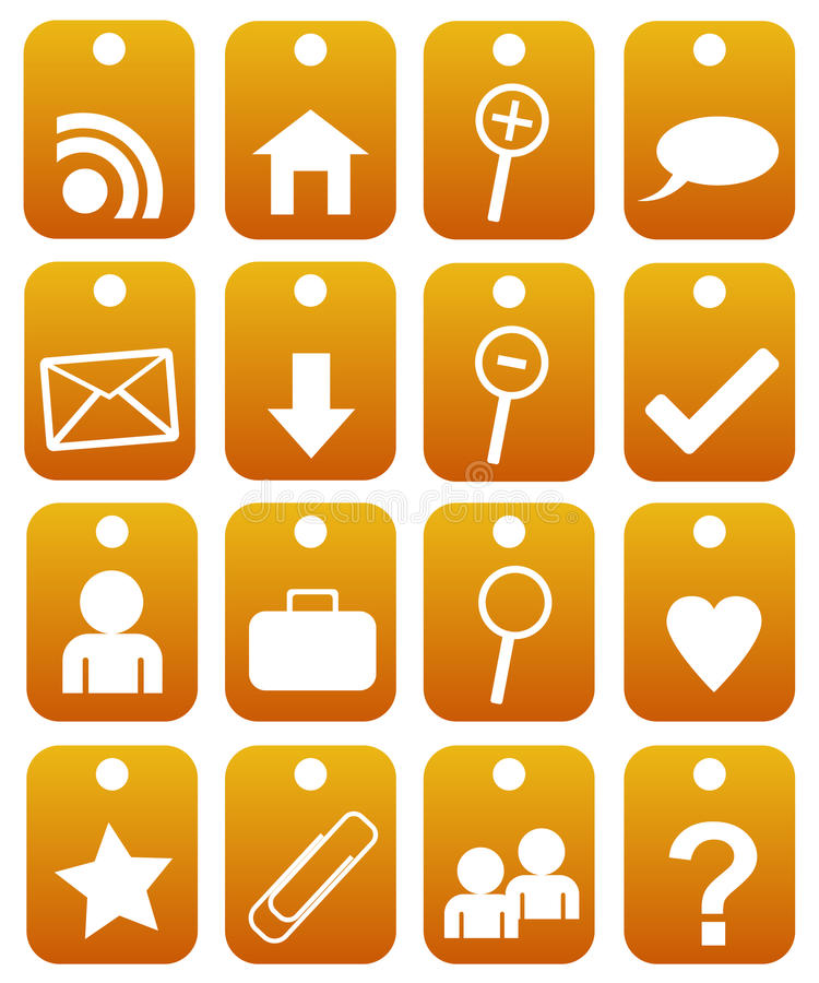 Collection of web buttons stock illustration
