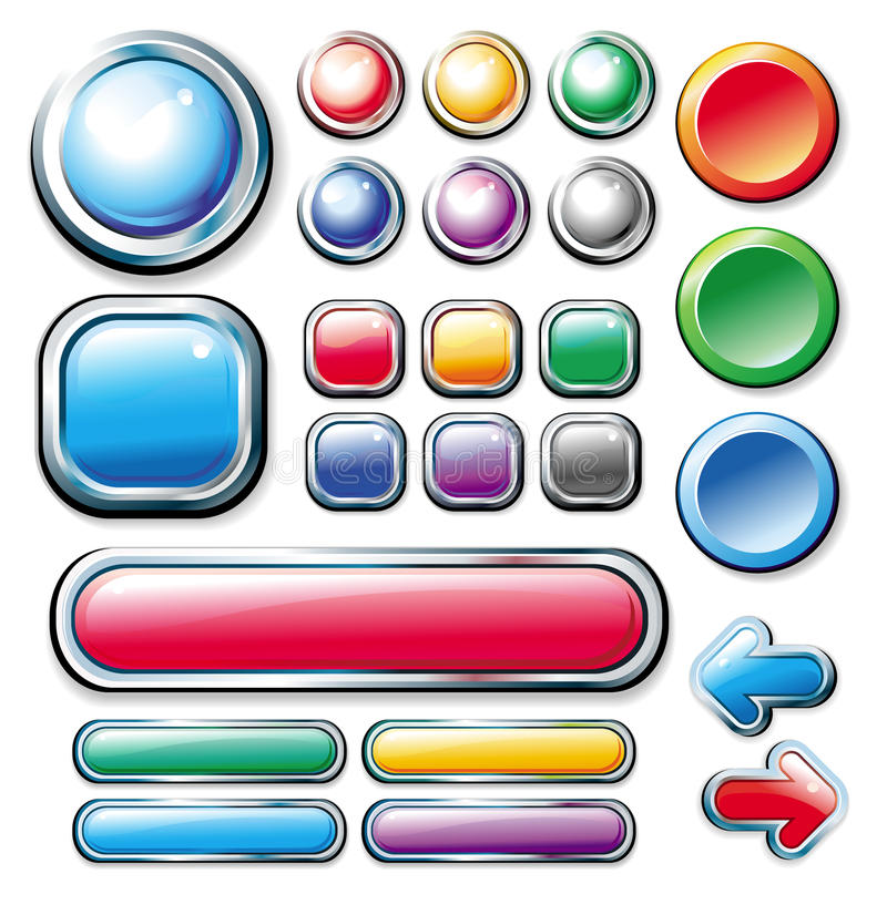 Download Collection web elements stock vector. Image of send, round - 11434513